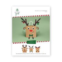 Gifts of Gab - Reindeer Gift Bag Decoration   Christmas Gift Wrap   Design & Decorate   Sticker Booklet   Decorate 3 Reindeer Christmas   Craft Kit   Themed Gift Bags for Kids   Perfect Party Stickers