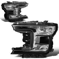 DNA MOTORING HL-OH-F15018-BK-CL1 Factory Style Headlight Lamp Set Replacement