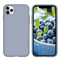 YINLAI iPhone 11 Pro Max Case 2019 Liquid Silicone Slim Fit Soft Rubber Cover Non Slip Grip Shockproof Protective Hybrid Hard PC Back Bumper Durable Case for iPhone 11 Pro Max 6.5 inch, Lavender Gray