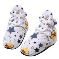 HONGLIN Unisex Baby Newborn Cozie Cotton Booties Infant Button Shoes Socks with Non-Slip Mat