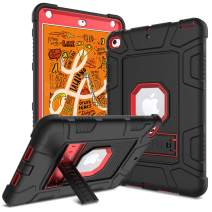 DONWELL Compatible for iPad Mini 5 iPad Mini 4 Case 7.9 inch 2019/2017 Shockproof Defender Protective Cover with Kickstand Designed for iPad Mini 5th 4th Generation (Red)