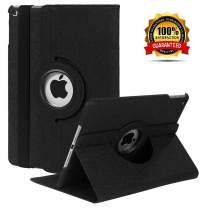 iPad Mini 1/2/3 Case - 360 Degree Rotating Stand Smart Cover Case with Auto Sleep/Wake Feature for Apple iPad Mini 1 / iPad Mini 2 / iPad Mini 3 … (Black 02)