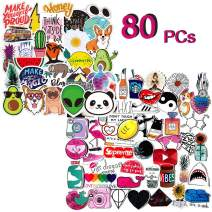 Stickers for Water Bottles Big 80-Pack,100% Vinyl Stickers -Cute,Waterproof,Aesthetic,Trendy, Perfect for Waterbottle,Laptop,Phone,Travel,Refrigerator Durable