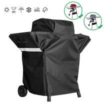 Hisencn Premium Grill Cover for Char-Broil TRU-Infrared Patio Bistro 240 Electric Grill 17602066 17602047 17602048 with Side Shelves,Heavy Duty Waterproof All Weather Protection BBQ Small Cover
