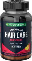 Nature's Bounty Advanced, Men's Series, for Healthier Looking Hair, Biotin + Collagen, Hair Care, 100 Count
