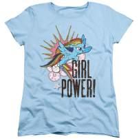 My Little Pony Rainbowdash Girl Power Women's T Shirt & Stickers