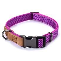 Mile High Life   Reflective Nylon Dog Collar   Small Dog Collar   Medium Dog Collar   Large Dog Collar   Leather Dog Collar