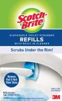 Scotch-Brite Disposable Toilet Scrubber Refill, 48, Multi-Color Count