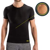 HOT SHAPERS Cami Hot Men – Compression Shirt Shapewear – Ab Sauna Suit for Workout