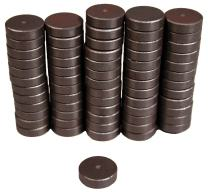 "Creative Hobbies Industrial Ceramic Circle Magnets 11/16 Inch Flat - 18mm Round Disc - 3/16"" Thick - Ferrite Magnets Bulk for Crafts, Science & Hobbies, Refrigerator or Whiteboard - 100 pcs/Box!"