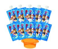 Paw Patrol Reusable Food Pouches – Perfect for Toddlers, Kids and Adults. Ideal for Applesauce & Yogurt. Easiest Pouch to Clean & Fill. Bulk Set of 10 Zippered Pouches