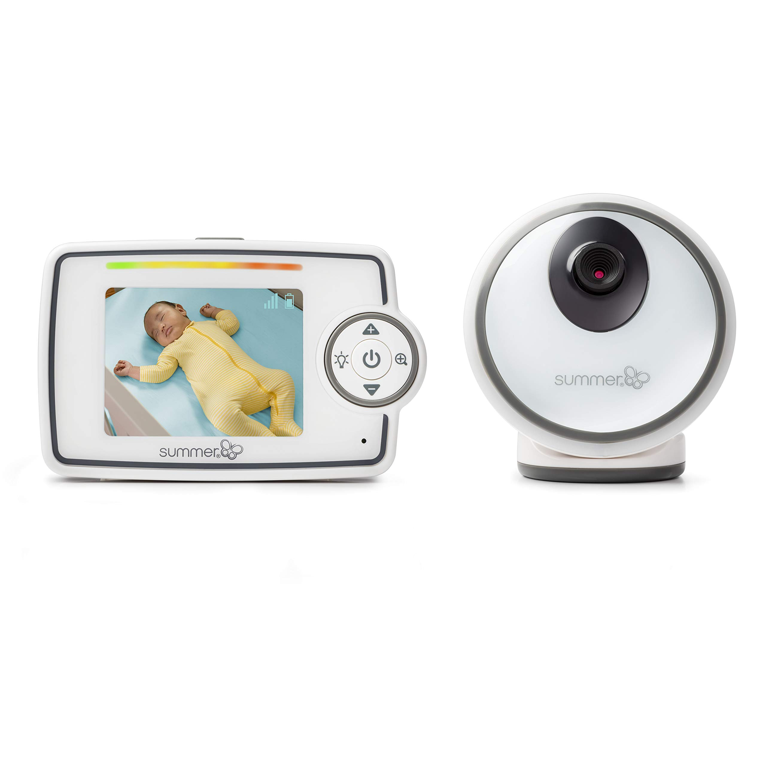 """Summer Glimpse Video Baby Monitor with 2.8"""" LCD Color Screen & Remote Steering Camera - Baby Video Monitor with Remote Digital Zoom & Voice Activated on/Off Technology"""