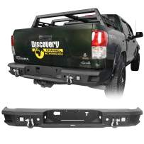 Hooke Road Tundra Rear Step Bumper Full Width Bumper with D-Rings Compatible with Toyota Tundra Pickup Truck 2007 2008 2009 2010 2011 2012 2013