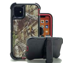 iPhone 11 Cover, Harsel Heavy Duty Scratch Resistant Defender Camouflage Hybrid Armor Military Grade Protection Shockproof Durable Case Shell with Belt Clip for iPhone 11 (Xtra Rose)