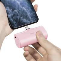iWALK Small Portable Charger 4500mAh Ultra-Compact Power Bank Cute Battery Pack Compatible with iPhone 11 Pro/XS Max/XR/X/8/7/6/Plus Airpods and More,Pink