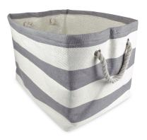"""DII, Woven Paper Storage Bin, Collapsible, 11x10x9"""", Rugby Gray, Small"""