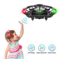 Hand Operated Drones for Kids,UFO Flying Ball with Infrared Sensor Auto-Avoid, Hands Free Mini Drone,Flying Ball Drone Toys for Boys and Girls(Black)
