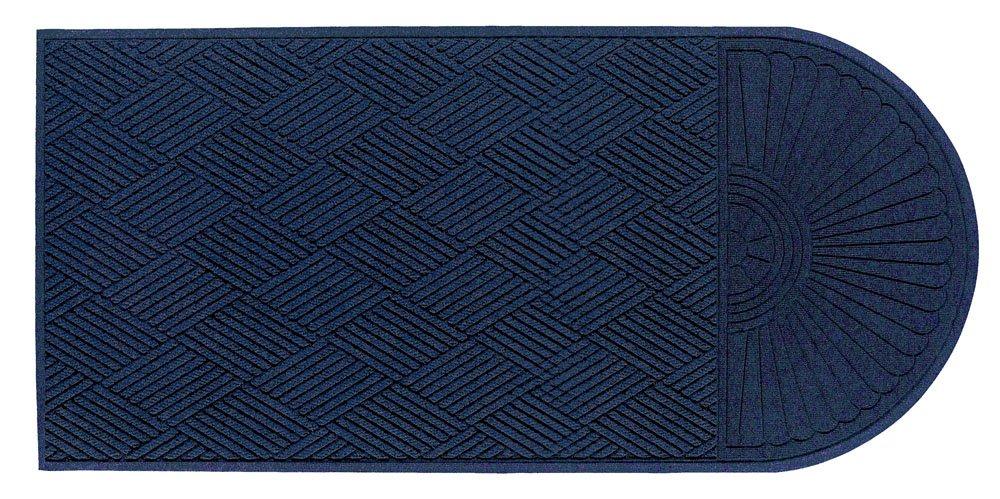 "M+A Matting 22248 Waterhog Eco Grand Premier PET Polyester Fiber Single End Entrance Indoor/Outdoor Floor Mat, SBR Rubber Backing, 5-1/2' Length x 3' Width, 3/8"" Thick, Indigo"