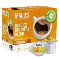 Maud's Breakfast Blend Coffee, (Bubbies Breakfast Blend), 24ct. Recyclable Single Serve Breakfast Blend Coffee Pods, 100% Arabica Coffee California Roasted, Light Roast Breakfast Blend KCup Compatible