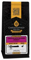 Christopher Bean Coffee Whole Bean Coffee, Chocolate Glazed Donuts, 12 Ounce