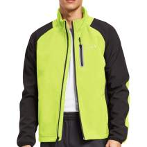 BALEAF Men's Windproof Cycling Running Jacket Thermal Softshell Water-Repellent Lightweight Windbreaker Winter