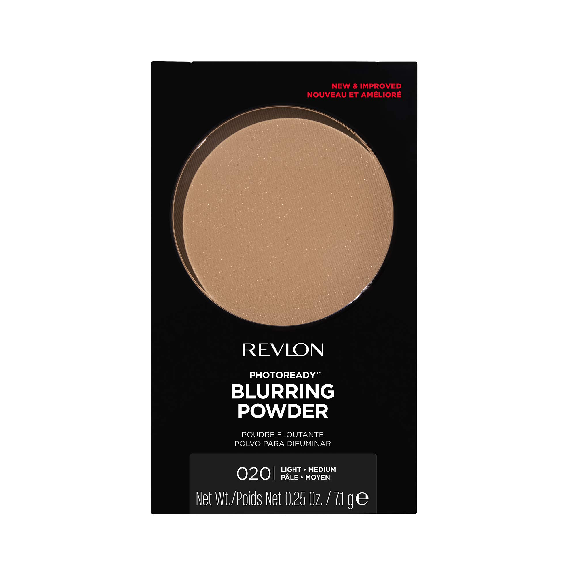 Revlon PhotoReady Powder, Lightweight and Mattifying Natural Finish Pressed Face Makeup, Oil Free, 020 Light/Medium, 0.25 oz
