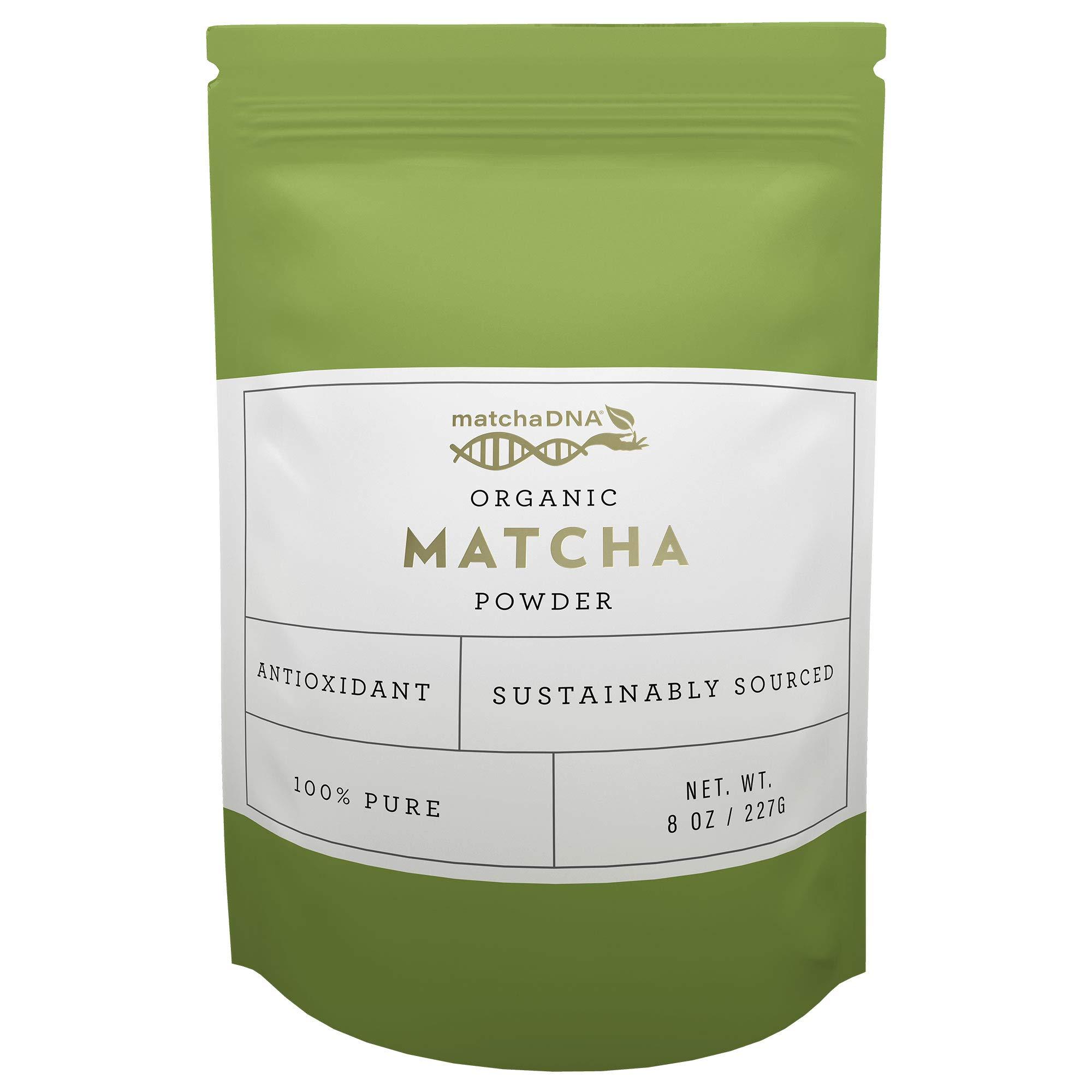 Matcha DNA USDA Organic Matcha Green Tea Powder Culinary Grade Powdered Matcha - High in antioxidants (8 Ounce)