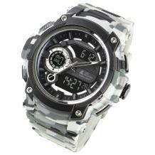 Lad Weather Digi-Ana Watch Dual time + Analog Display Stopwatch Timer Alarm Camouflage Combat Military