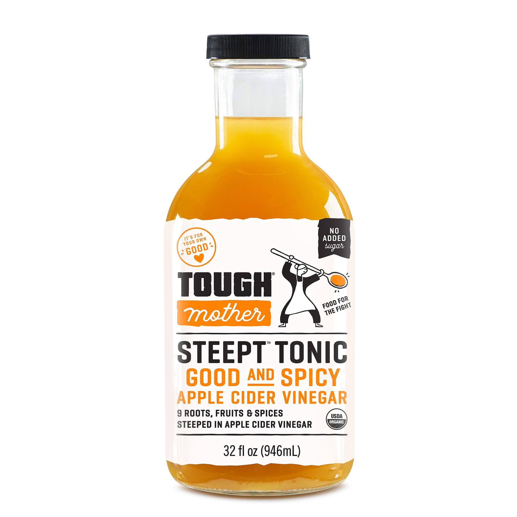Tough Mother Steept Health Shots- Spicy, Certified Organic (32oz)