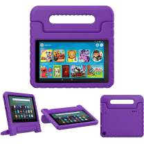 TiMOVO Case for Fire 7 Kids Case, Fire 7 Tablet Case, Lightweight Shockproof Convertible Handle Stand, Kids Case for All-New Fire 7 Tablet (9th Generation, 2019 Release) - Purple