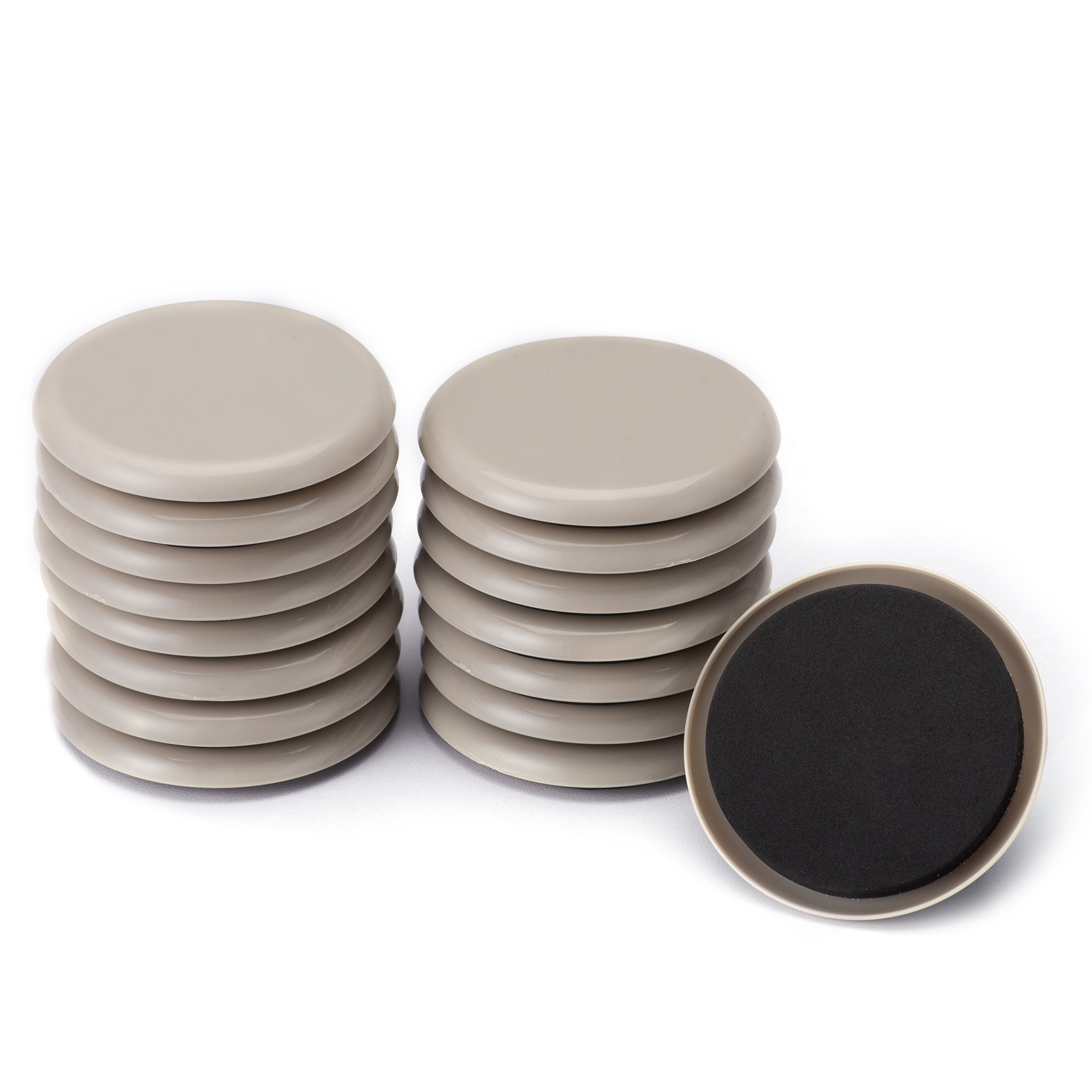 Furniture Sliders, CO-Z Reusable Round Movers for Heavy Furniture for Carpet. (16 Pack, 3.5 inch)