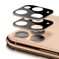 [2 Pack] iPhone 11 Pro Max & 11 Pro Camera Lens Screen Protector, ambison 9H Tempered Glass Camera Screen Protector for iPhone 11 Pro 5.8'' and iPhone 11 Pro Max 6.5'', Case Friendly (Gold)