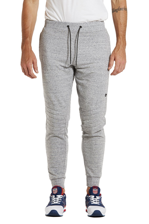 Etonic Men's FLX Quilted Knee Zipper Pocket Jogger Sweatpant