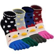 Women Toe Socks Comfy Low Cut Five Finger Sock Ankle for Ladies
