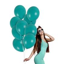 Matte Solid Turquoise Balloons Pack of 36 Thick Opaque Ocean Blue Latex 12 Inch for Under the sea Mermaid Galaxy Snowflake Birthday Party Gender Reveal Baby Shower Baptism Christening Graduation Party Supplies