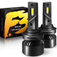 OXILAM 9006 LED Headlight Bulbs 16,000 Lumens 90W High Power Mini Size 9006/HB4 LED Headlight Bulbs Conversion Kit 6500K White, Pack of 2