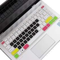 "MUBUY-GOL Keyboard Cover Design for HP Pavilion x360 14"" Laptop 14M-BA 14M-CD 14-BF 14-BW 14-cm Series 14M-BA011DX 14M-BA013DX 14M-BA015DX 14M-BA114DX 14M-CD0001DX 14M-CD0003DX -Candy Black"