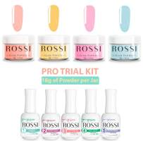 ROSSI Nails Dipping Powder 4 Color PRO Kit | Nail Art | Glam Powder PRO Kit