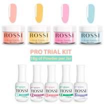 ROSSI Nails Dipping Powder 4 Color PRO Kit   Nail Art   Glam Powder PRO Kit