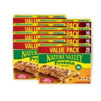 Nature Valley Chewy Granola Bars, Salted Caramel Nut, Protein, 10 ct, 8 Boxes