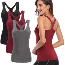TELALEO Tank Tops for Women, Workout Athletic Racerback Tank Tops for Basic Activewear, Sleeveless Dry Fit Shirts 1-5 Pack