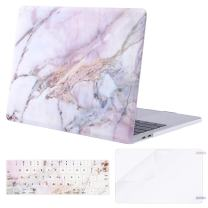 MOSISO MacBook Pro 15 inch Case 2019 2018 2017 2016 Release A1990 A1707, Plastic Pattern Hard Shell & Keyboard Cover & Screen Protector Compatible with MacBook Pro 15 Touch Bar, Colorful Marble