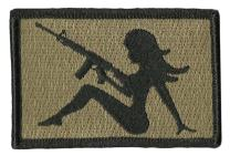 """AR-15 Trucker Girl Tactical Morale Patch - 2""""x3"""""""