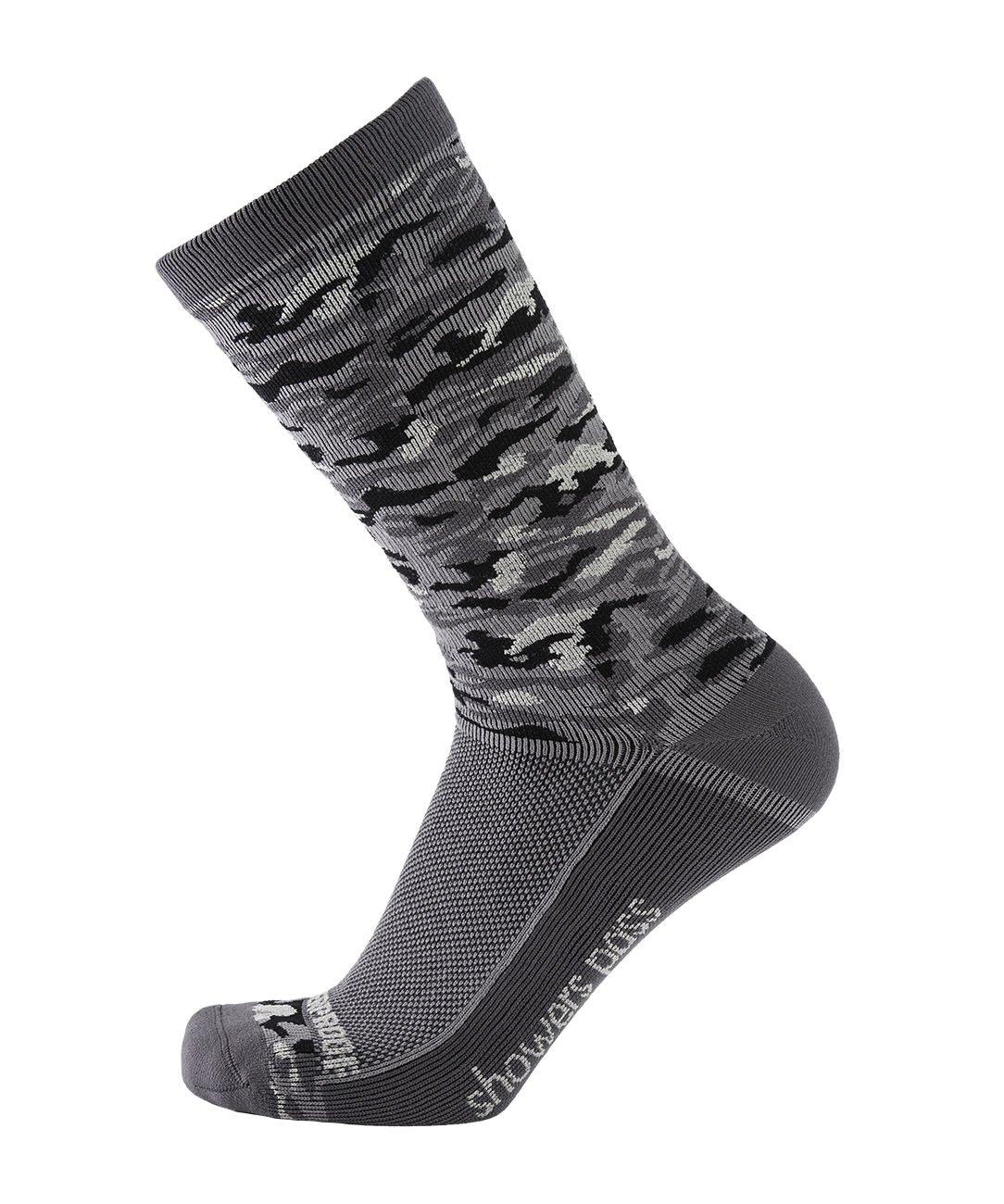 Showers Pass 100% Waterproof Lightweight Breathable Multisport Unisex Socks - Crosspoint Camo