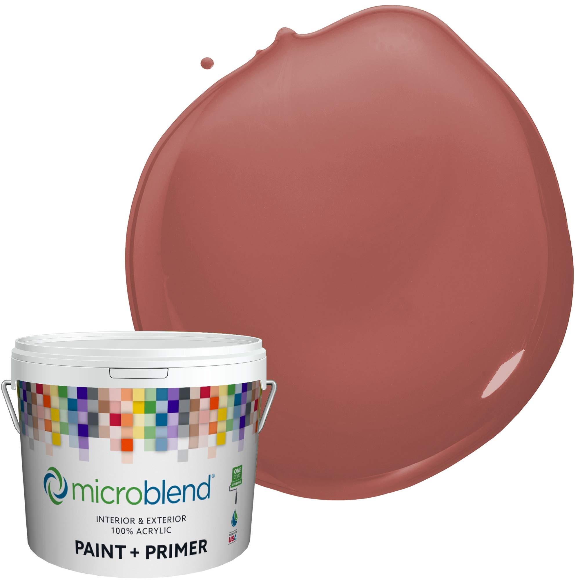 MicroBlend Interior Paint + Primer, Spice Trade, Eggshell Sheen, 2 Gallon, Custom Made, Premium Quality One Coat Hide & Washable Paint