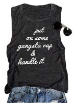 Put On Some Gangsta Rap Handle It Tank Top Womens Work Out Hip Hop Shirt Vest