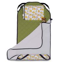 Urban Infant Tot Cot All-in-One Modern Preschool/Daycare Nap Mat with Washable Pillow and Elastic Straps - Submarines