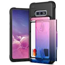 Galaxy S10e Case VRS Design Slim Hybrid Premium Wallet Case Card Slot Holder Shockproof [Damda Glide Shield] [Solid Pink Blue] Gradient Color Compatible with Galaxy S10e 5.8 inch (2019)