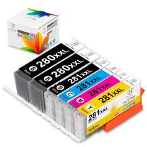 Miss Deer Compatible Ink Replacement for Canon PGI-280XXL CLI-281XXL PGI 280 CLI 281 Ink Cartridge, Work for Canon Pixma TS9120 TR8520 TS8220 TS6120 TS6220 TS8120 TR7520 TS9520 TS9521C Printer