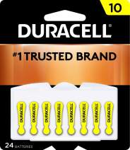 Duracell - Hearing Aid Batteries Size 10 (Yellow) - long lasting battery with EasyTab for ease of installation - 24 count